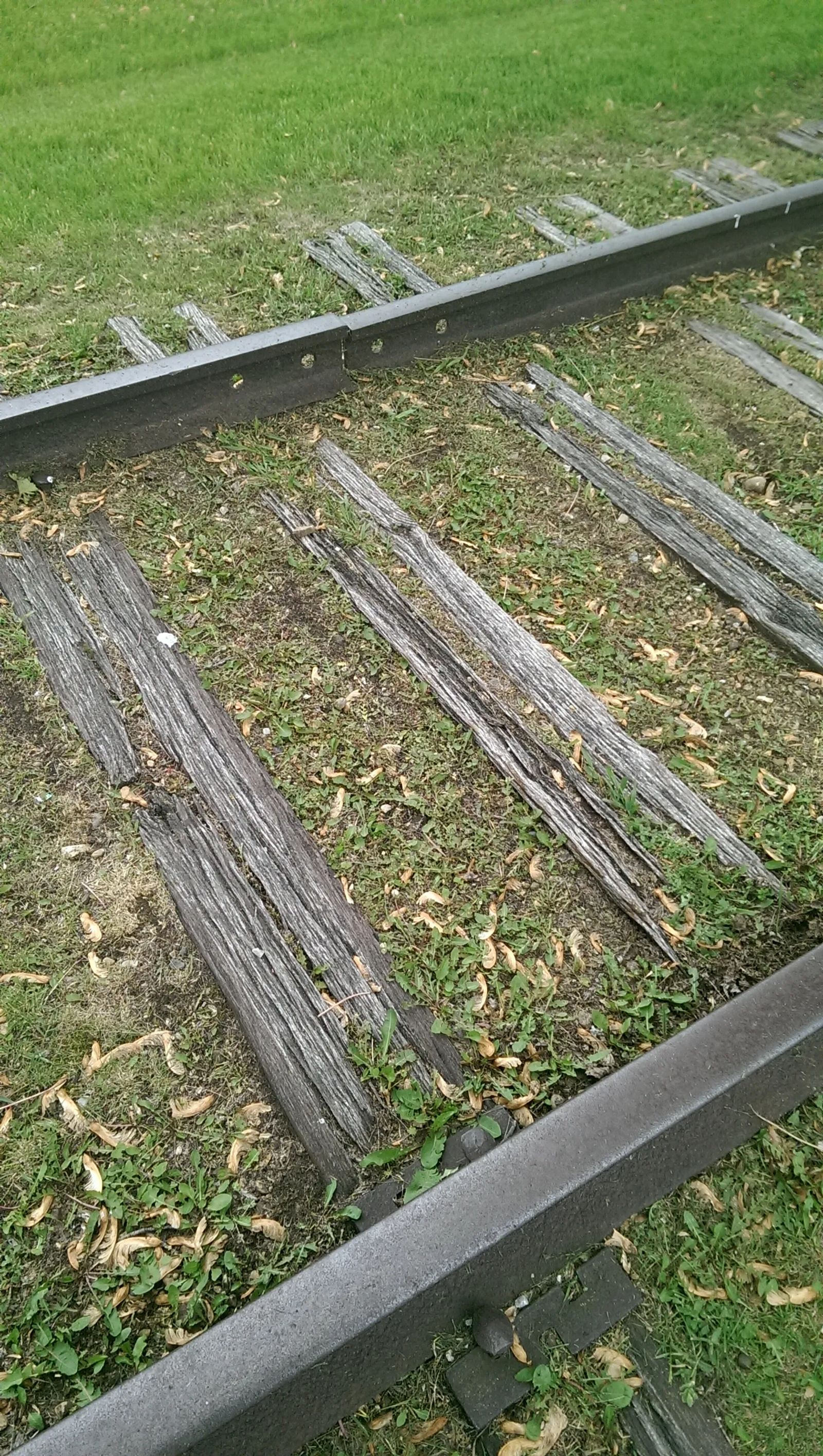 Photo of The actual rails Jesse James loosened to derail a train near Adair, Iowa