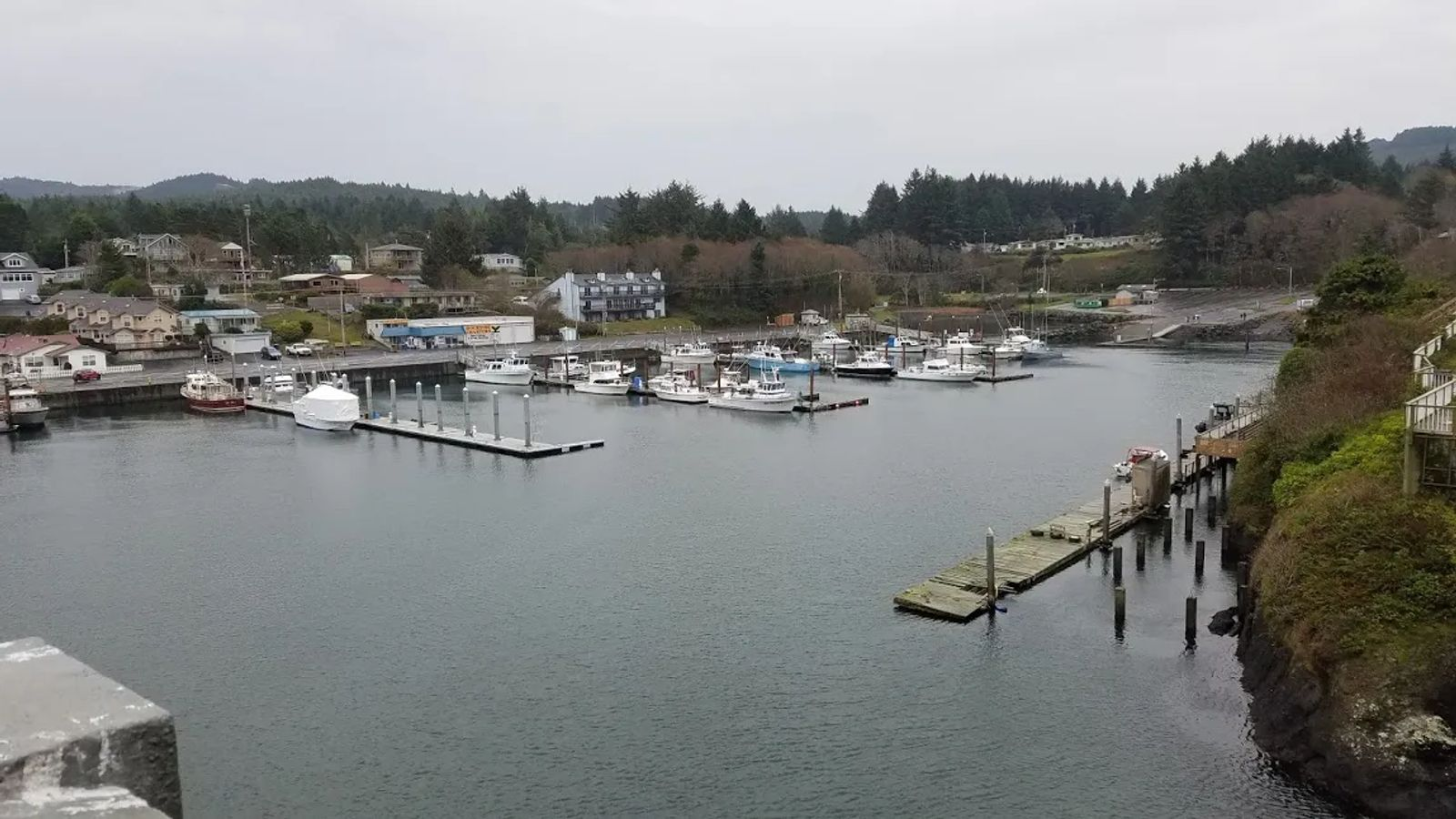 Photo of harbor in Depoe Bay, Oregon