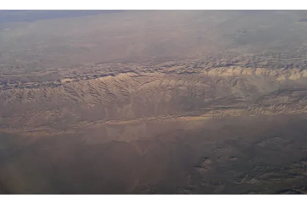 Photo of A highly visible section of the San Andreas Fault, in southern California
