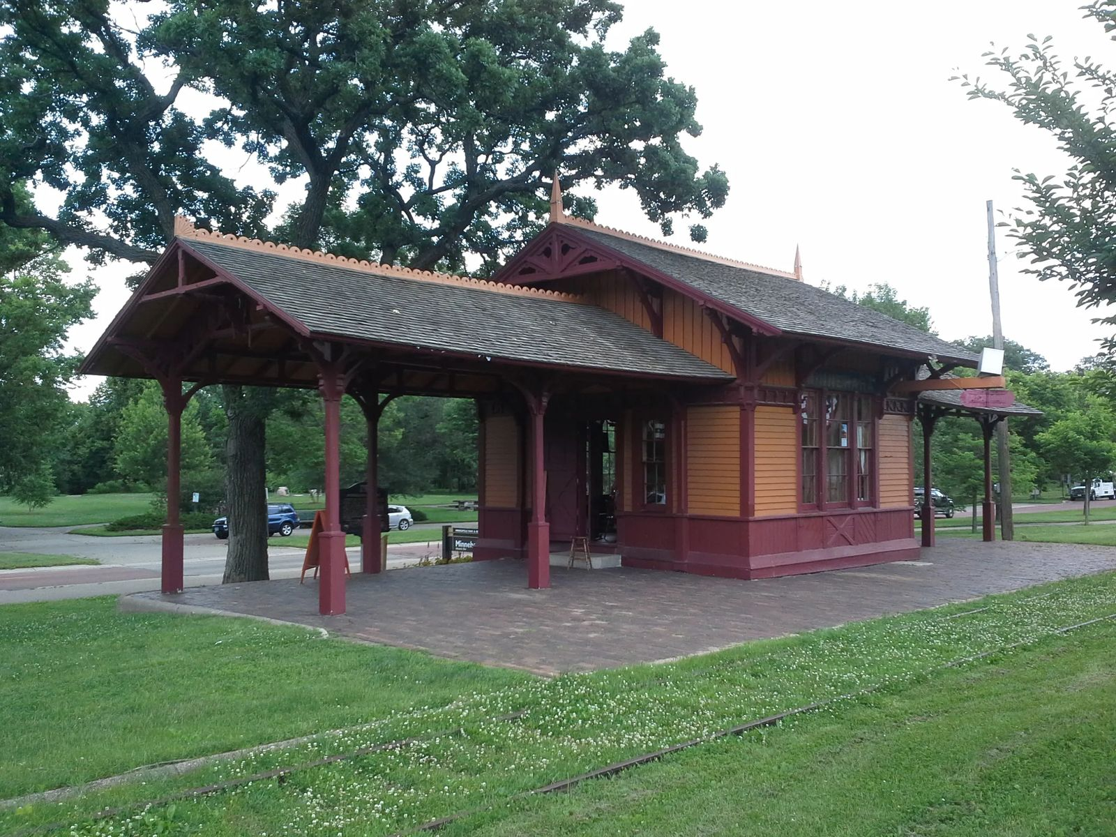 Photo of the Minnehaha train depot, known as The Princess, in Minneapolis, Minnesota.