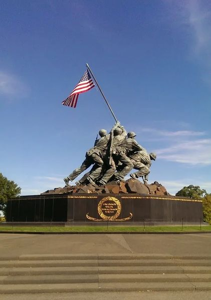 Photo of the Marine Corps War Memorial, in Arlington, Virginia