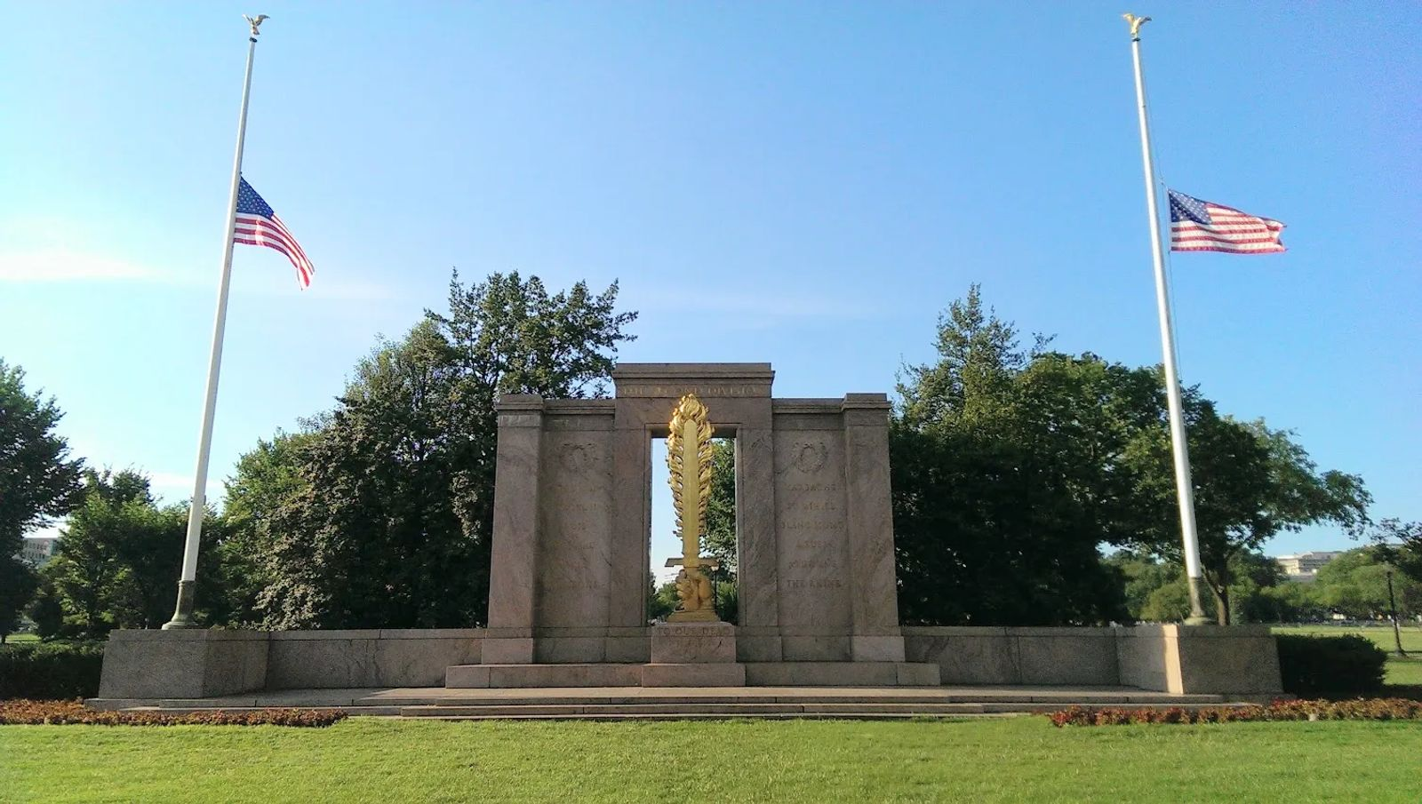 Photo of the Second Division Memorial in Washington, DC
