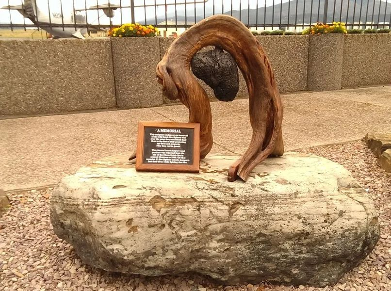 Photo of A memorial to wild lands firefighters in Missoula, Montana