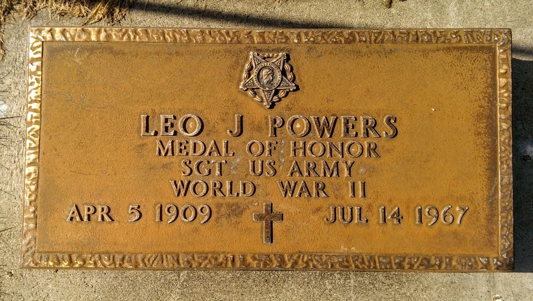 "Photo of The Grave of Leo J. ""Pop"" Powers in Butte, Montana"