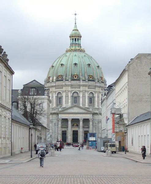 Photo of The open platform at the top of the Marble Church, from which you see all of Copenhagen, Denmark