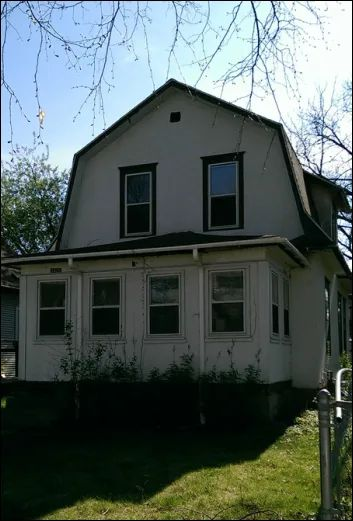 "Photo of This is the house where ""The Kid"" (played by Prince) lived in the movie ""Purple Rain,"" in Minneapolis, Minnesota"