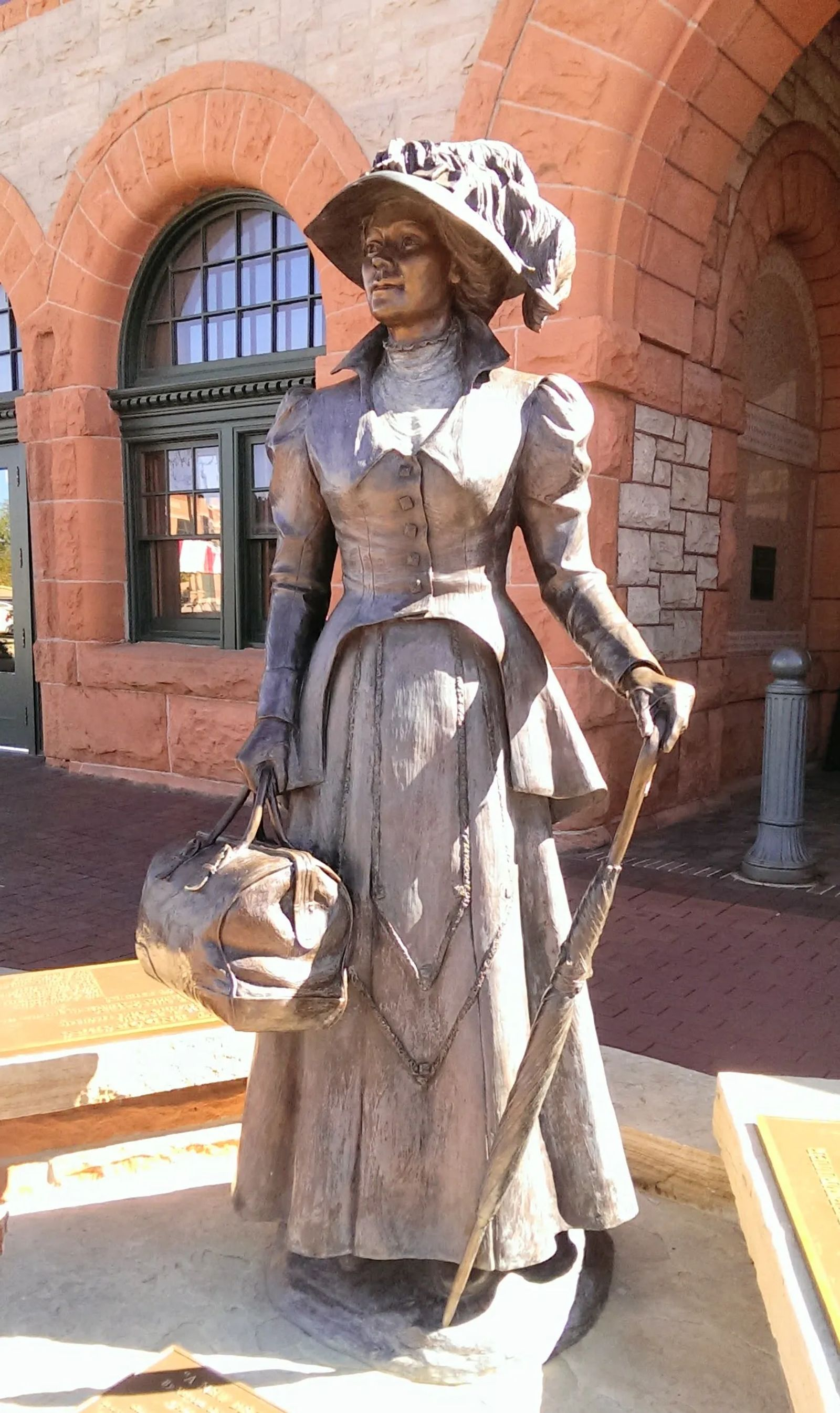 "Photo of a sculpture called ""a new beginning"" in Cheyenne, Wyoming"
