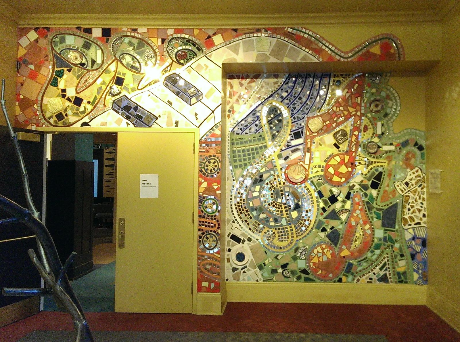 Photo of a mosaic illustrating Detroit's musical roots, in Detroit, Michigan