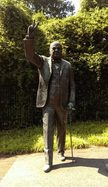 Photo of The statue of Winston Churchill at the British Embassy in Washington, DC