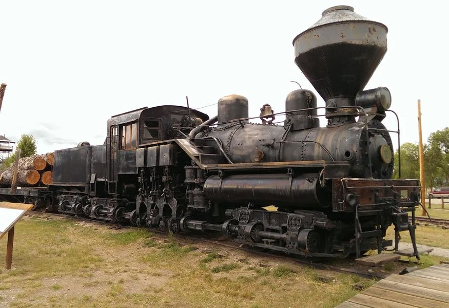 Photo of Old Number 7 steam locomotive in Missoula, Montana