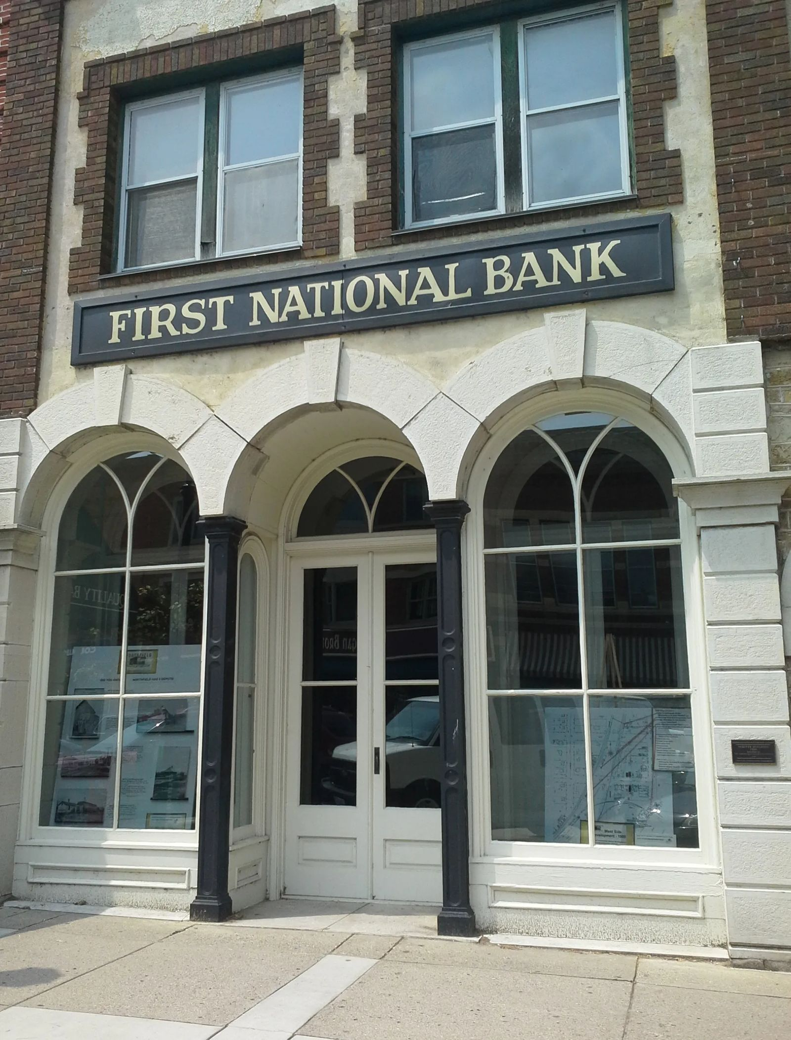 Photo of the First National Bank in Northfield, MN, where the James Gang met its match