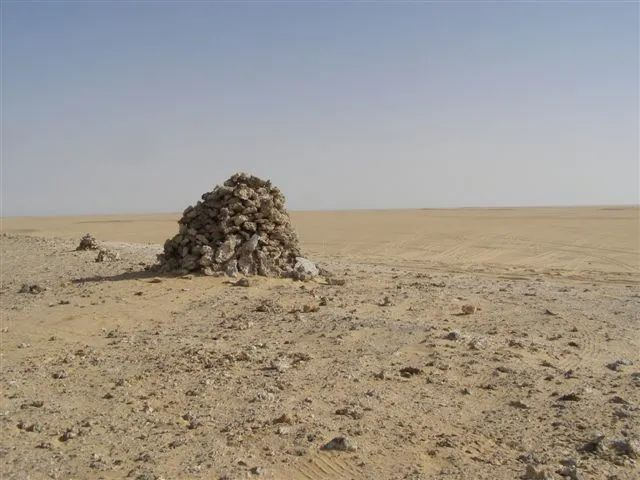 Photo of the Big Cairn in the desert of Egypt