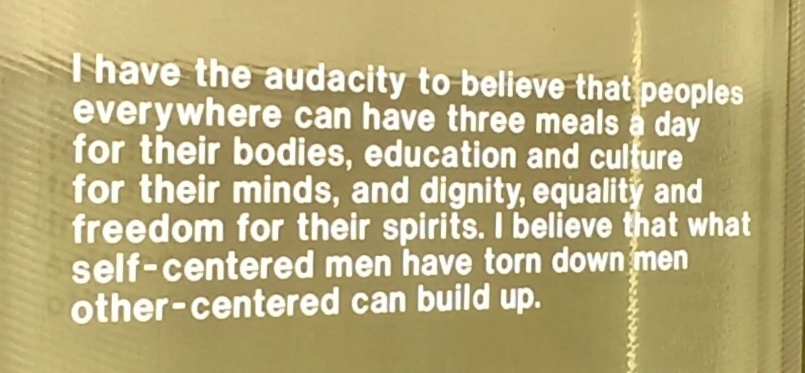 Photo of quote by Martin Luther King, Jr. in San Francisco, California